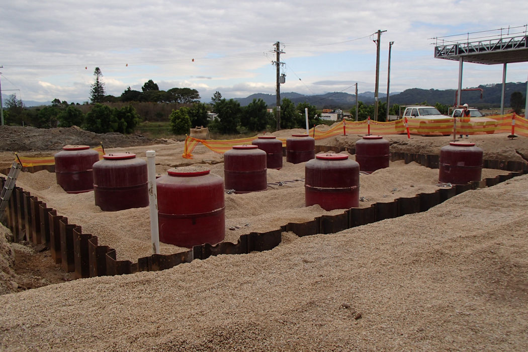 Caltex Chinderah Fuel Tank farm back filled